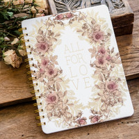 All For Love Spiral Notebook by Papaya Art