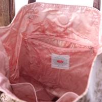 Quartz Gilded Flowers Bucket Tote by Papaya Art