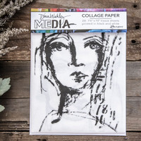 Dina Wakley Media Collage Paper Faces