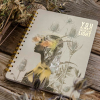 You Always Catch the Light Spiral Notebook by Papaya Art
