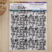 Dina Wakley Media Collage Paper Just Words