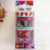 Dina Wakley Media Assorted Washi Tape — Collage Hearts