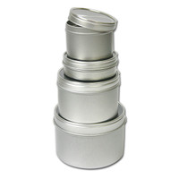 Clear Top Round Assorted Tins
