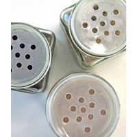 Square White Lid Spice Jars — Set of 3