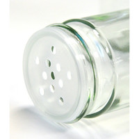 Square White Lid Spice Jars — Set of 3