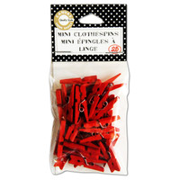 Canvas Corp Clothespins Mini - Red