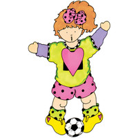Soccer Gal Wood Mounted Stamp by Chris Johnson