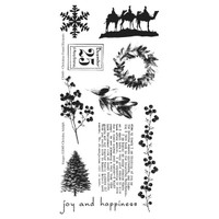 Christmas Found Elements Clearly Impressed Stamp Set by Christine Adolph