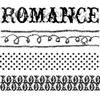 Romance Trim Wood Mounted Stamp by Christine Adolph