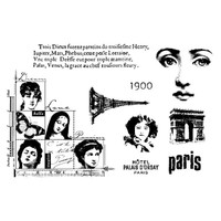 Paris 1900 Clearly Impressed Stamp Set by Julie van Oosten