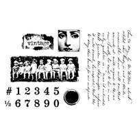 Vintage Clearly Impressed Stamp Set by Julie van Oosten