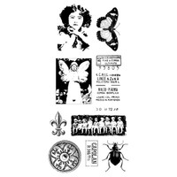 Butterfly Girl Clearly Impressed Stamp Set by Julie van Oosten