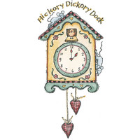 Dickory Dock Wood Mounted Stamp by Karen Foster