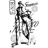 Franco Wood Mounted Stamp by Carin Andersson