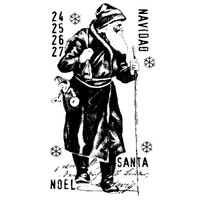 Navidad Wood Mounted Stamp by Carin Andersson