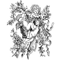 Tangle of Angels Wood Mounted Stamp by Classic Stampington & Company