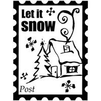 Snow Post - Small Wood Mounted Stamp by Classic Stampington & Company