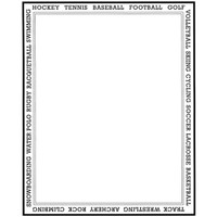 Sports Frame Wood Mounted Stamp by Classic Stampington & Company