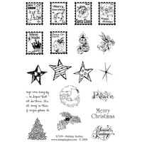 Holiday Inchies Clearly Impressed Stamp Set