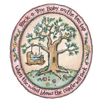 Rock—A—Bye Baby Unmounted Stamp by Karen Foster