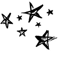 Scattered Stars - Small Unmounted Stamp by Classic Stampington & Company