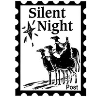 Silent Night Post - Small Unmounted Stamp by Classic Stampington & Company