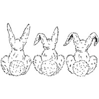 Bunny Trio — Medium Unmounted Stamp by Classic Stampington & Company
