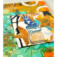 Art Canvases with Cling Mount Stamps Project by Dina Wakley
