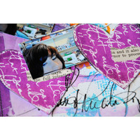 Artistic Scrapbooking with Cling Mount Stamps Project by Dina Wakley