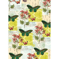 Cavallini & Co. Decorative Wrap - Flora & Fauna Butterfly