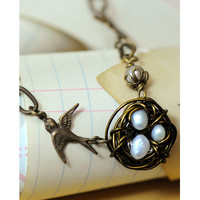 Vintage Bird's Nest Necklace Project by Melissa Mercer