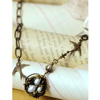 Vintage Bird's Nest Necklace Project by Melissa Mercer