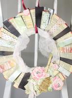 Porcelain Paper Wreath Project