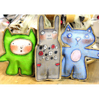 Stuffed Paper Bag Characters Project by Marylinn Kelly