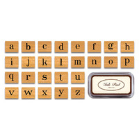 Cavallini & Co. Rubber Stamp Set — Alphabet Lowercase