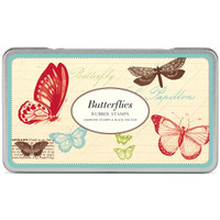Cavallini & Co. Rubber Stamp Set — Butterflies