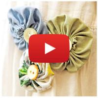 Fabric Flower Yo-Yos Video