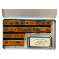 Cavallini & Co. Rubber Stamp Set - Numbers & Symbols