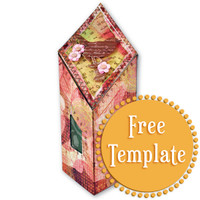 Diamond Top Gift Box Template