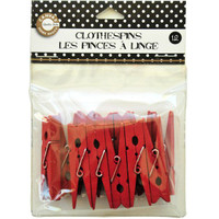 Canvas Corp Clothespins Small - Red