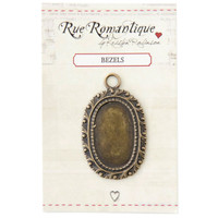 Rue Romantique Medium Oval Bezel — Brass Tone