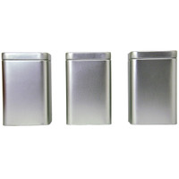 Tea Tins Square Large — Set of Three