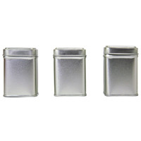 Tea Tins Square Small — Set of 3