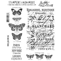 Stampers Anonymous Tim Holtz Cling Mount Stamp Set Papillon