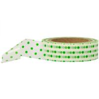 Washi Tape - Polka Dot White and Green