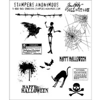 Stampers Anonymous Tim Holtz Cling Mount Stamp — Mini Halloween