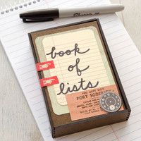Book of Lists Project by Christen Olivarez