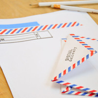 DIY Airmail Stationery with Washi Tape Project