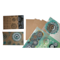 Stencil Kraft Postcards Project by Michelle Ward
