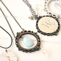 Hanging Hearts Cameo Framed Necklaces Project by Becky Shander